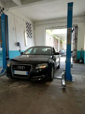 Remplacement barre stabilisatrice + biellettes arrière - Audi A3