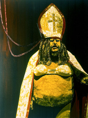 der Kleriker, 1995, Acrylic on Canvas, 140 x 110 cm
