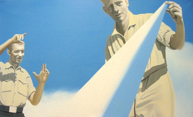 das Maß, 2008, Öl auf Leinwand, 80 x 130 cm