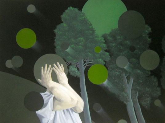 Gefüge, 2013, Öl auf Leinwand, 90 x 120 cm