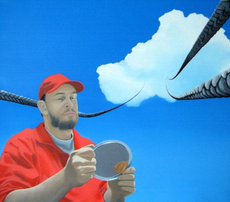Skepsis ist angebracht, 2006, Öl auf Leinwand, 90 x1 00 cm