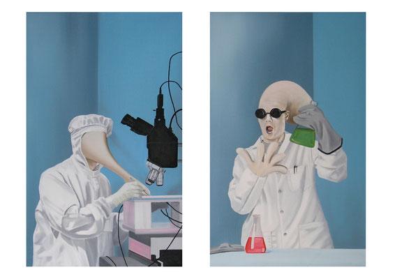 Angewandte Wissenschaft 01-02, 2015, Öl auf Leinwand, a 50 x 30 cm