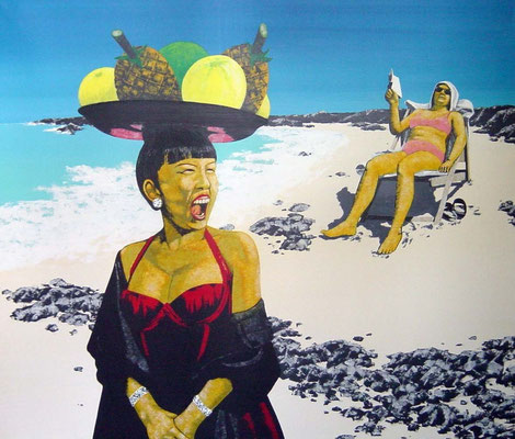 Reisevergnügen, 1997, Acrylic on Canvas, 130 x 150 cm,
