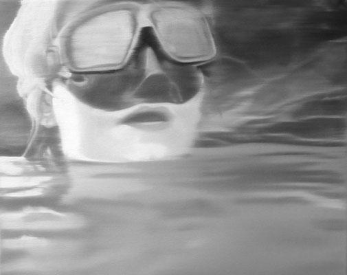 Im Wasser, 2004, Oil on Canvas, 40 x 50 cm