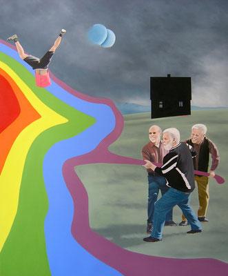 Vorarbeit, 2015,  Öl auf Leinwand, 180 x 150 cm