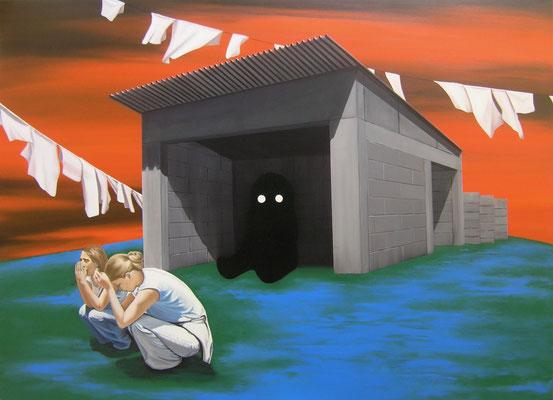 Konzentration, 2017, Öl auf Leinwand, 100 x 140 cm