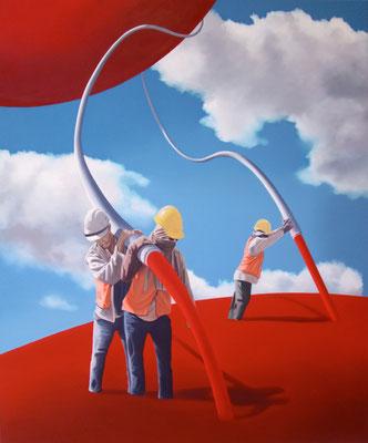 Sowohl als auch, 2017, Öl auf Leinwand, 120 x 100 cm