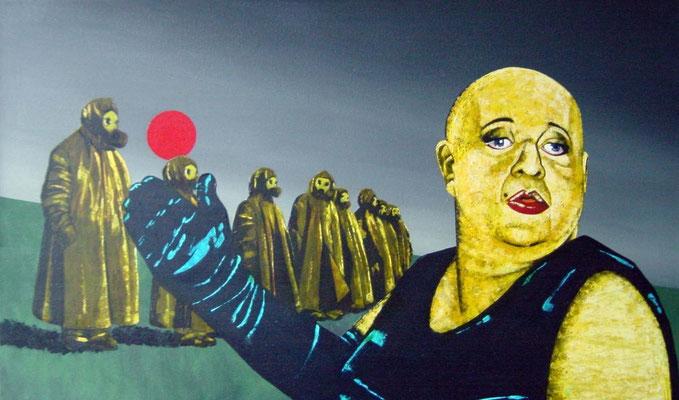 kleiner Hinweis, 1998, Acrylic on Canvas, 60 x 100 cm