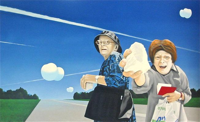 so steht`s geschrieben, 2006, Öl auf Leinwand, 100 x 160 cm