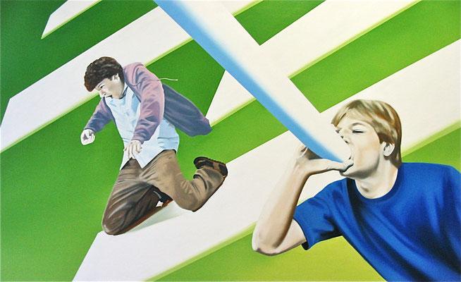 locker bleiben, 2010, Öl auf Leinwand, 80 x 130 cm