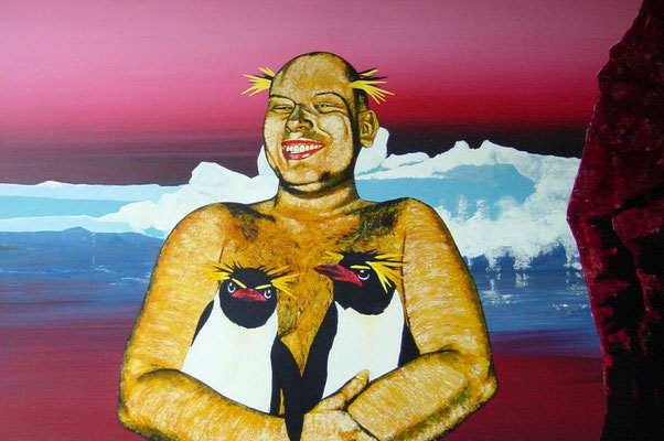 der Liebhaber, 1998, Acrylic on Canvas, 80 x 120 cm