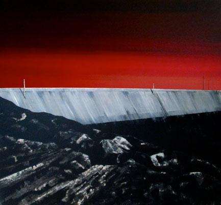Grubenrand, 1996, Acrylic on Canvas, 120 x 130 cm