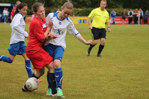 Zoe Wiese kämpfte um jeden Ball