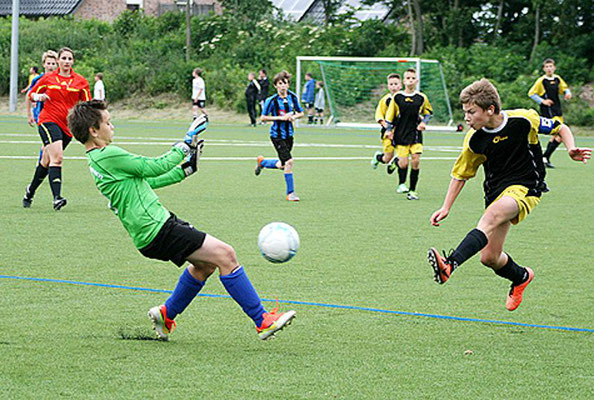 Keeper Alex Haucke hielt gegen die starken Ungarn überragend