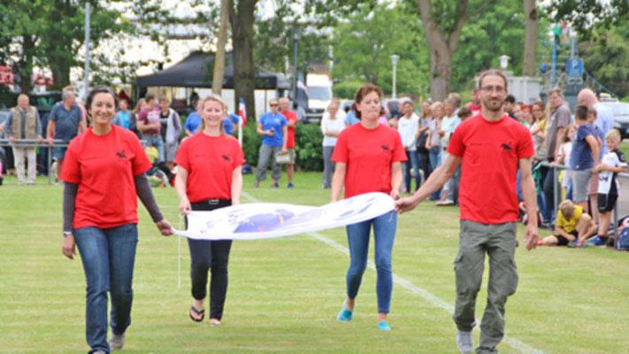 Michèle Weisgerber (JHB Burg), Alexandra Schliebener (Sprt/Stadt Fehmarn), Vivian Duve (Jugendlandheim Lemkenhafen, Stephan Pospiscil (FehMare)