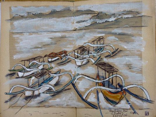les bateaux à balanciers de Padang Bay