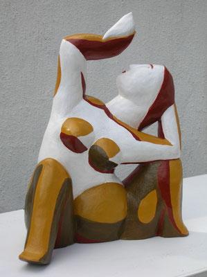 Le clown de Laurens (céramique peinte) 34X26X15