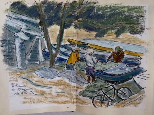Pêcheurs à Negombo
