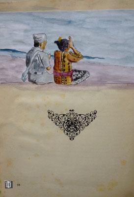 Recueillement sur la plage (Amed)