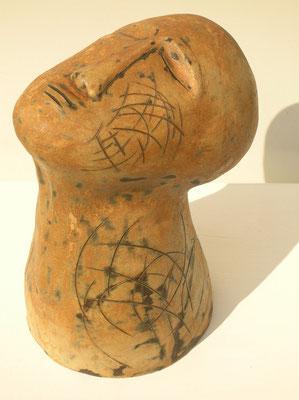 Tête (céramique émaillée) 31X17X19