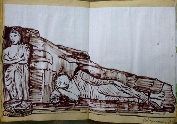 Le Bouddha couché de Polonaruva