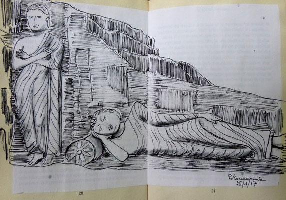 Bouddha couché à Polonaruva