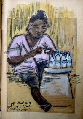 la marchande d'eau, avec téléphone