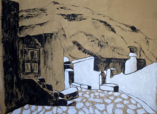 Amorgos (acrylique sur papier craft) 54X39