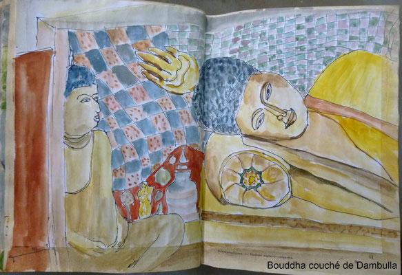 Le Bouddha couché de Dambulla
