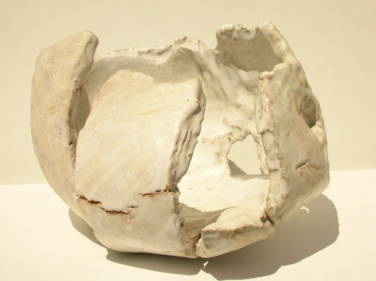 Graine déchirée (céramique émaillée) 25X39X30