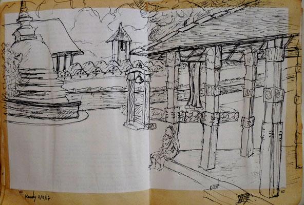 Au temple à Kandy