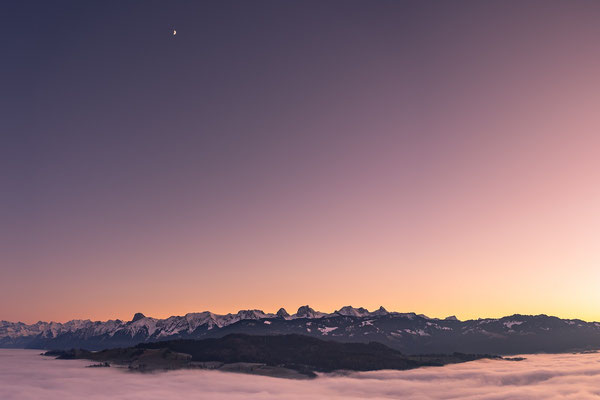 Swiss mountains range, including the famous montain Stockhorn.