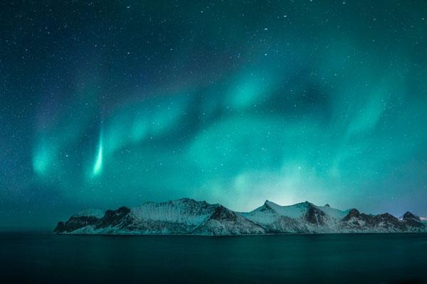 Northern Lights in Senja region on Norway.