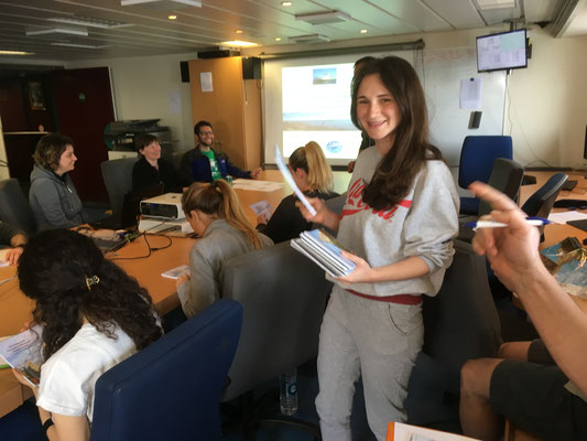 First seminar on board, featuring Olesia