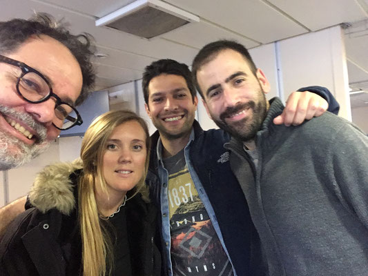 Selfie of the co-chief Christian with our Spanish team