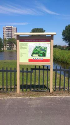 park informatie bord paneel in eiken constructie