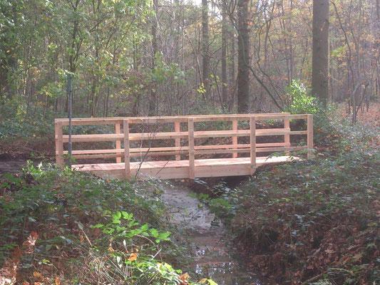 oversteek bruggetje wandelaars douglas hout