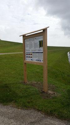 informatie bord paneel in eiken constructie