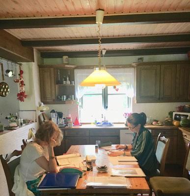Lernen in der Küche