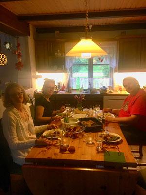 Wieder daheim beim Abendessen