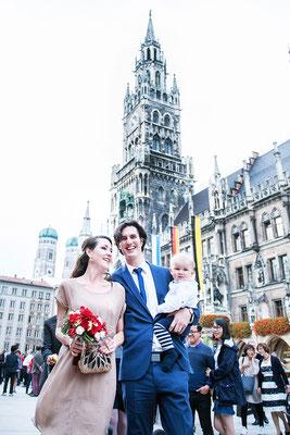 Hochzeit im Münchner Rathaus am Marienplatz