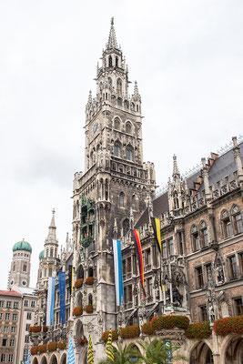 Münchner Rathaus am Marienplatz