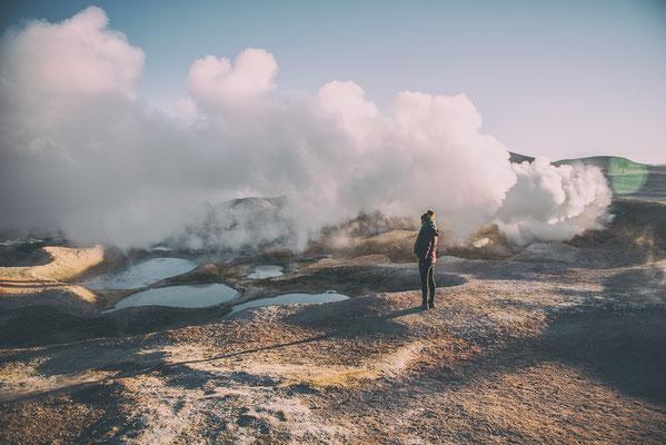 Geysire Sol de Manana Bolivien