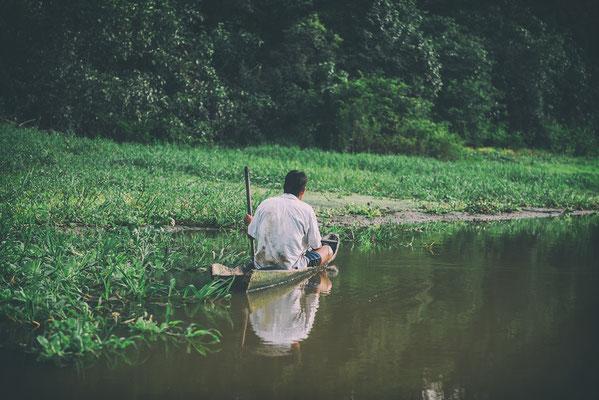 Fischer im Amazonas