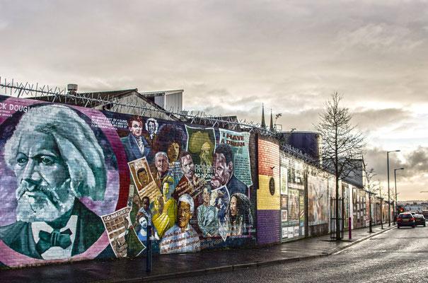 Wall of Belfast Ireland