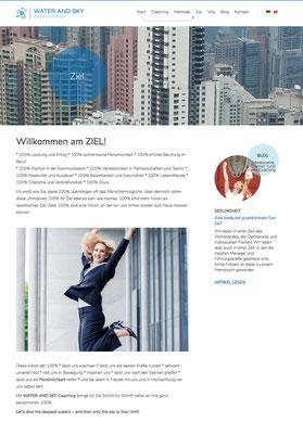 Konzept + Wording der Website von WATER & SKY COACHING
