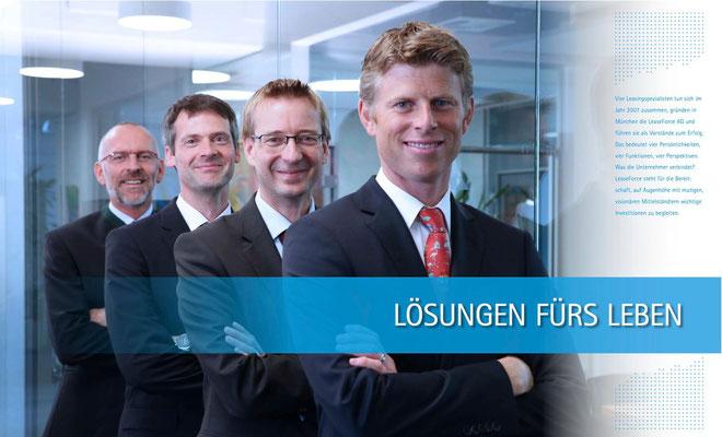 Image-Reportage über die Firma LEASEFORCE für das Imagebuch ERFOLG