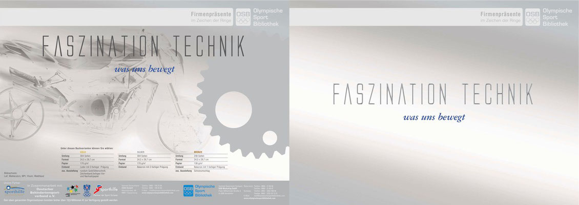 Konzeption + Chefredaktion für das Buchwerk FASZINATION TECHNIK für die OSB - Werbefolder Außenseiten