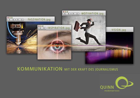Cover der QUINN-Imagebroschüre