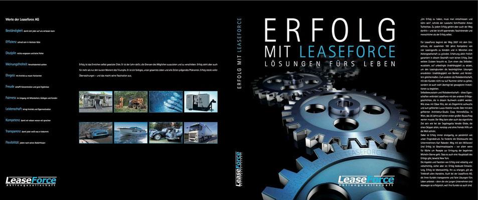 Schutzumschlag Imagebuch ERFOLG für LEASEFORCE